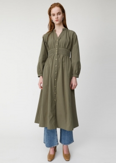 WAIST GATHER SHIRT DRESS