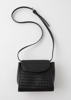 BRAIDED FAUX LEATHER BAG