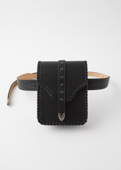 WESTERN BUCKLE POUCH BELT
