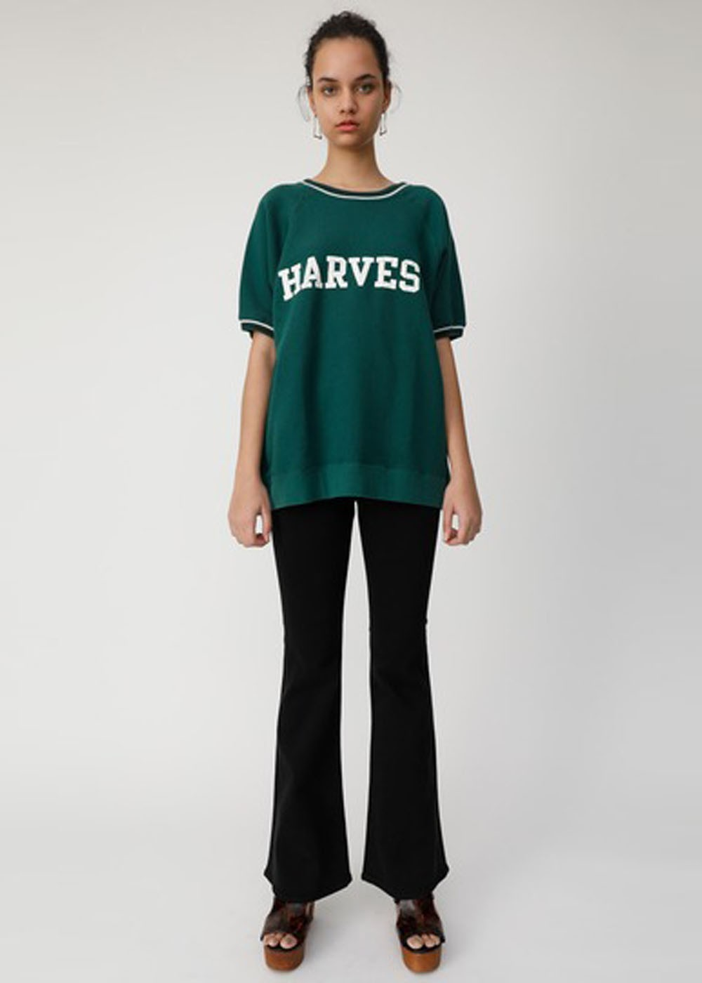 【最大70%OFF】HARVEST HALF SLEEVE POJ|GRN|スウェット|MOUSSY