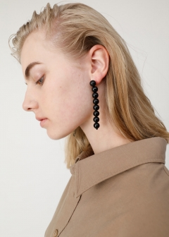 CLEAR BEADS EARRINGS