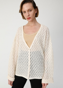 GEOMETRIC KNIT CARDIGAN