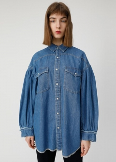 VOLUME SLEEVE DENIM SH