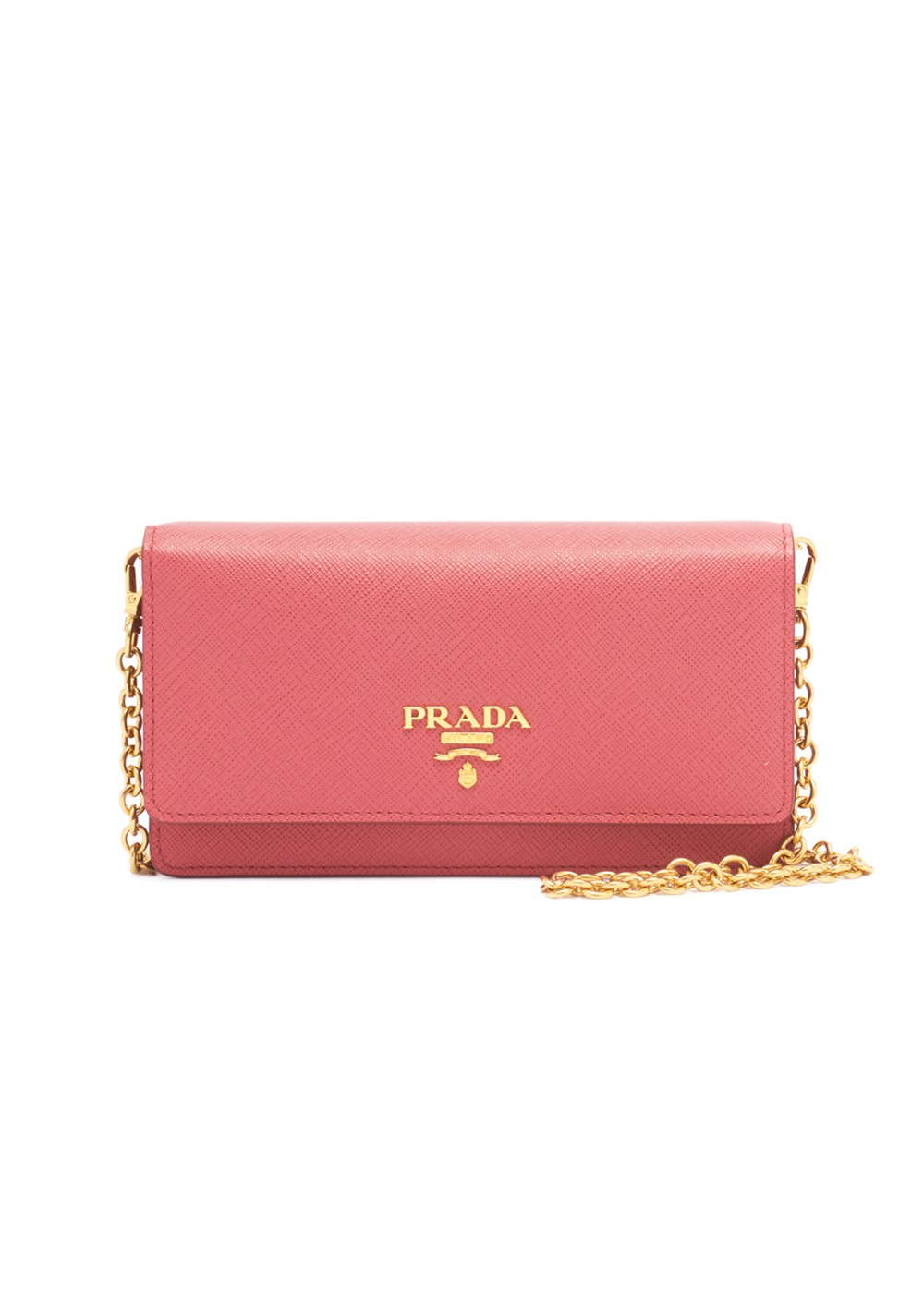 【最大40%OFF】SAFFIANO LEATHER WALLET CHAIN|PEONIA|レディース財布|PRADA - wallet and more
