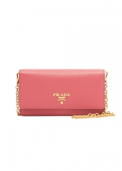 【最大36%OFF】SAFFIANO LEATHER WALLET CHAIN|PEONIA|レディース財布|PRADA - wallet and more