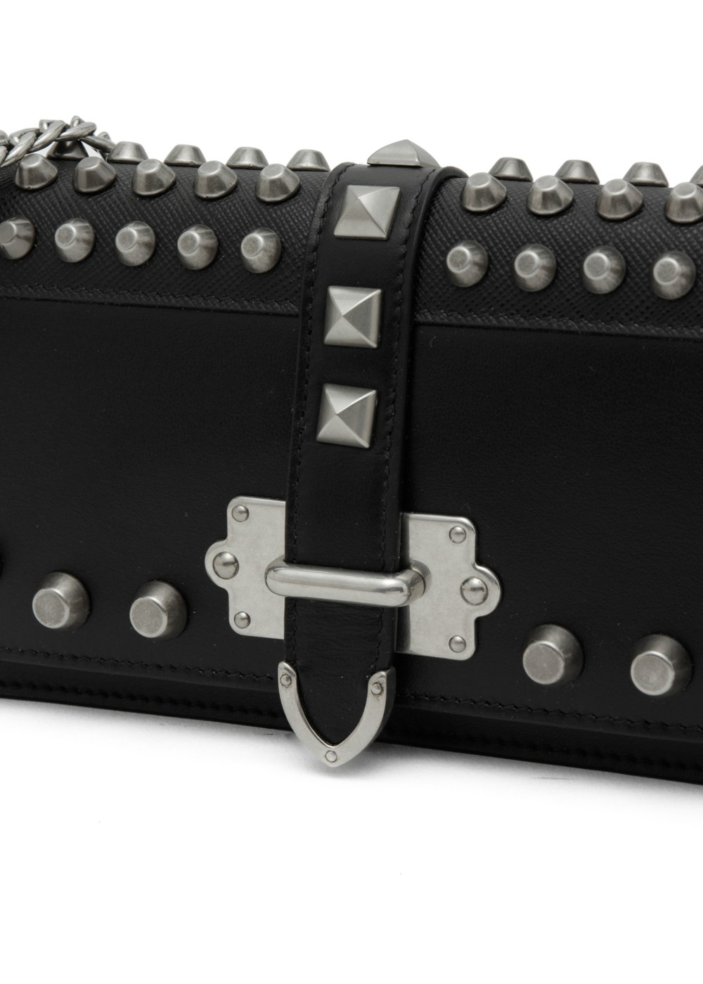 【最大36%OFF】CAHIER STUDDED MINI BAG|NERO|ショルダーバッグ|PRADA - Bag