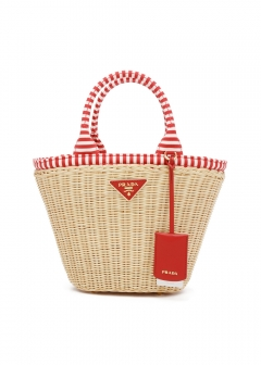 PRADA - Bag - CANAPA WICKER HANDBAG