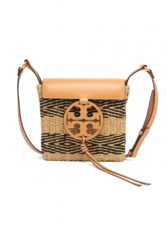 Tory Burch - MILLER STRIPE STRAW CROSSBODY