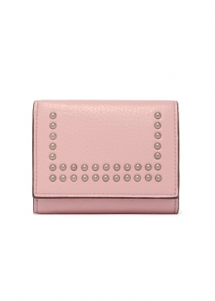 SMALL FOLDED WALLET W/STUDS