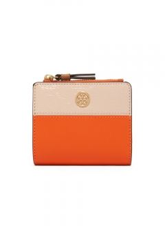 Tory Burch - 2つ折り財布 / ROBINSON 【ORANGE JUICE / SHELL PINK】