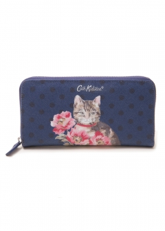 Cath Kidston - 【7/7入荷】長財布 / CONTINENTAL ZIP WALLET WITH CAT PLACEMENT