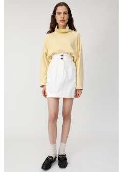 DOUBLE BUTTON MINI SKIRT
