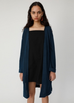 RAMIE COTTON LONG CARDIGAN