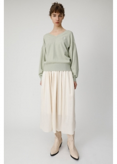 GATHER MIDI SKIRT