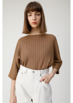 BOAT NECK RIB SWEATER