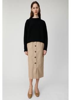 FRONT BUTTON NARROW SKIRT