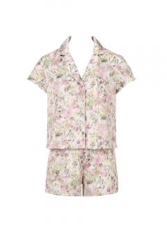 WOMENS WEAR Pressed flower printセットパジャマ