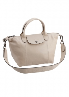 LE PLIAGE CUIR /2WAYハンドバッグ【CHALK】