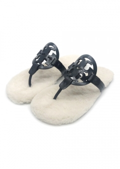 【8/19入荷】MILLER SANDAL LEATHER & SHEARLING サンダル 49773