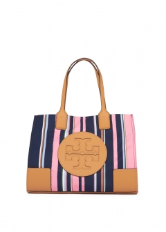 トートバッグ / ELLA PRINTED MINI TOTE 【CANYON STRIPE VERTICAL/PERFECT NAVY】