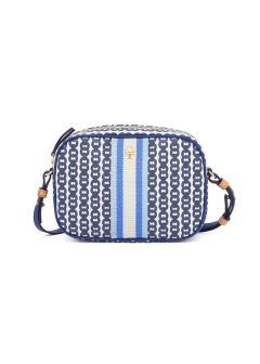 Tory Burch - 【2019年秋冬新作】ショルダーバッグ / GEMINI LINK CANVAS MINI BAG 【BONDI BLUE GEMINI LINK】