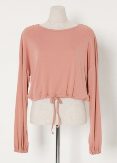 SW PUFF SLEEVE CROP TOP