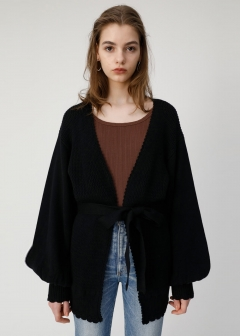 TRIM END KNIT CARDIGAN