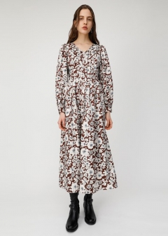FROWER PRINTED JACQUARD DRESS