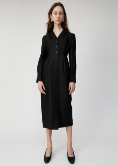 TUCK LONG SHIRT DRESS