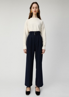 TR BELTED WIDE PANTS