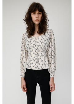 FLOWER TUCK BLOUSE