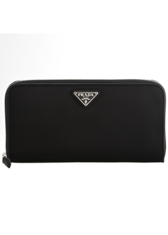 PRADA - Wallet Collection - - TESSUTO NYLON / ラウンドジップ長財布 【NERO】