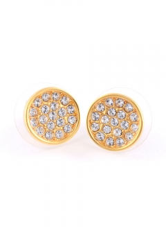 Dainty Sparklers Pave Disc Studs パヴェ ラウンド スタッド ピアス