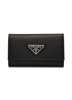 PRADA - Wallet Collection - - SAFFIANO TRIANGOLO / キーケース 【NERO 】