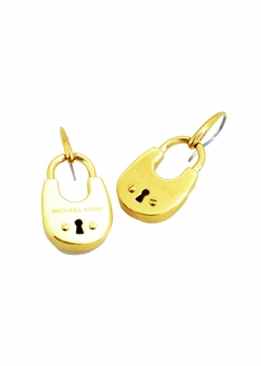 Gold-Tone PadLock Earrings パドロック ピアス