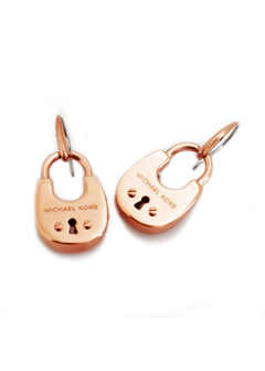 Rose Gold-Tone PadLock Earrings パドロック ピアス