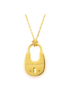 Gold-Tone PadLock Pendant Necklace パドロック ペンダント ネックレス