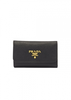 PRADA - Wallet Collection - - キーケース / SAFFIANO METAL ORO 【NERO】