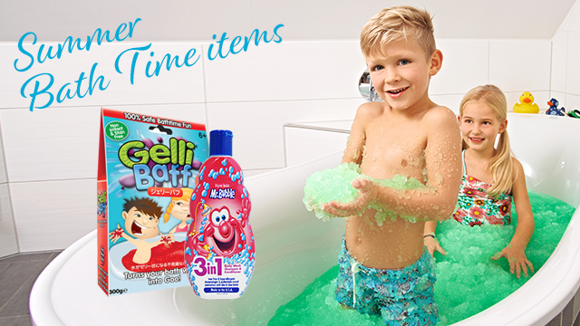 Summer Bath Time Items