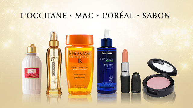 L'OCCITANE・MAC・L'ORÉAL PARIS・SABON etc.