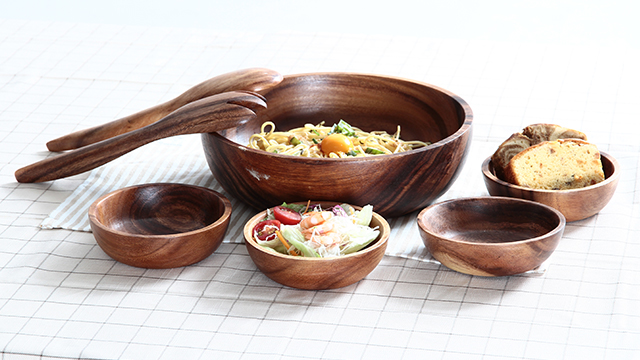 acacia wood tableware