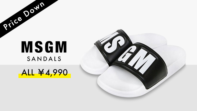 【Price Down】MSGM SANDALS - ALL ¥4,990