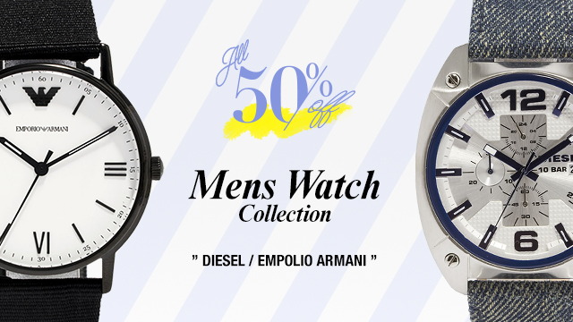 【ALL 50%OFF!!】Mens Watch Collection DIESEL / EMPOLIO ARMANI