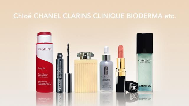 Chloe・CHANEL・CLARINS・CLINIQUE・BIODERMA etc.